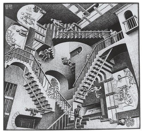『相対性』 1953年 All M.C. Escher works copyright © The M.C. Escher Company B.V. - Baarn-Holland. All rights reserved. www.mcescher.com