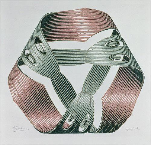 『メビウスの輪Ⅰ』 1961年 All M.C. Escher works copyright © The M.C. Escher Company B.V. - Baarn-Holland. All rights reserved. www.mcescher.com
