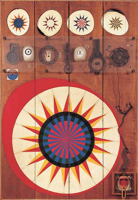 菊畑茂久馬『ルーレット No.1』1964年 福岡市美術館蔵