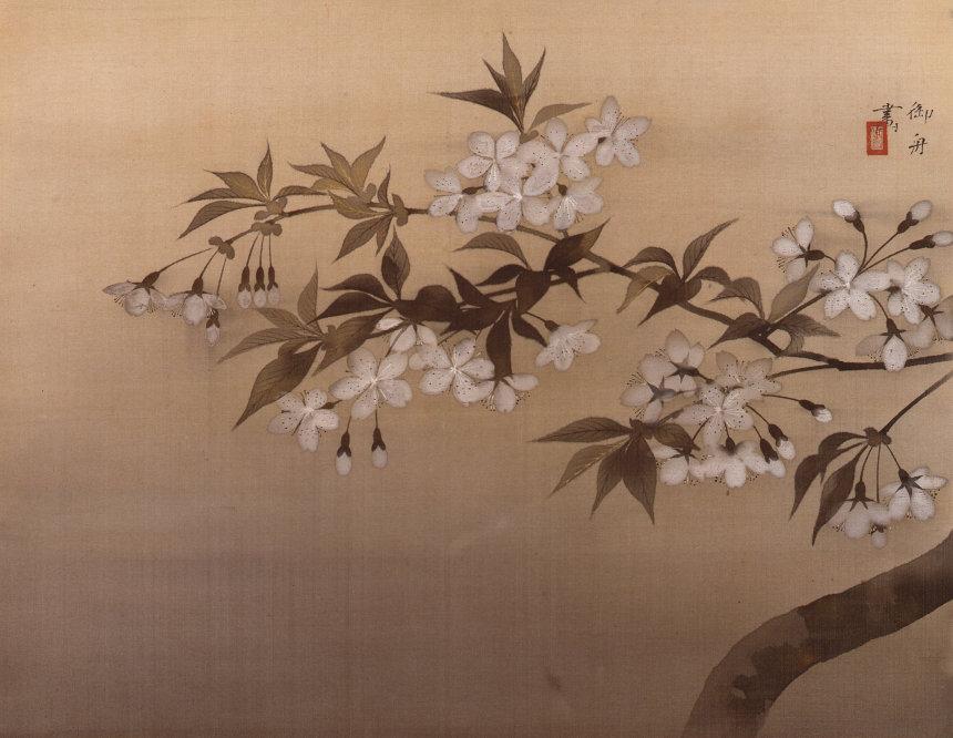 速水御舟『夜桜』1928(昭和3)年 絹本・彩色 山種美術館