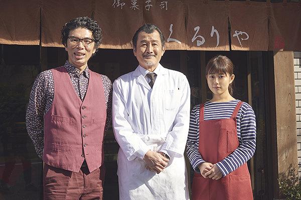 左から『東京センチメンタルSP~御茶ノ水の恋~』に出演する片桐仁、吉田鋼太郎、高畑充希