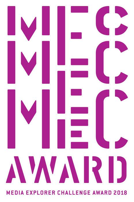 『MEC Award 2018(Media Explorer Challenge Award 2018)入選作品展』ロゴ
