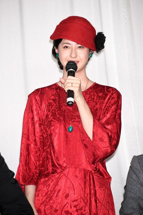 松本若菜 『この道』クランクアップ報告記者会見より ©LDH JAPAN
