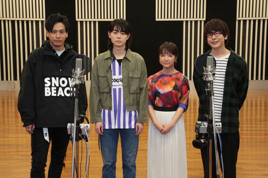 左から山下健二郎(三代目J Soul Brothers)、菅田将暉、上白石萌音、花江夏樹