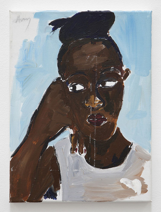 Henry Taylor『Ghanaian #3』Acrylic on canvas/40 x 29.8 x 1.9 cm© Henry Taylor, Courtesy of the artist and Blum & Poe, Los Angeles/New York/Tokyo