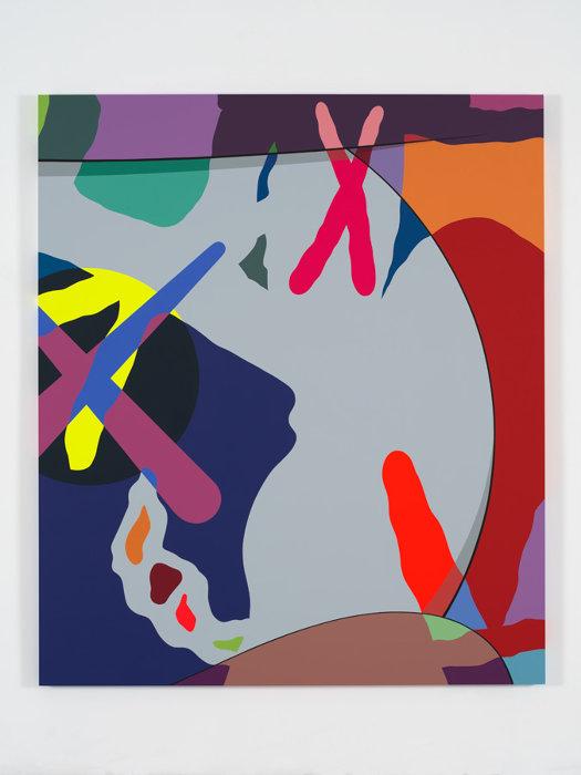 KAWS『#2_KAWS』NTY, 2018 Acrylic on canvas 213.4×182.9cm / 84×72in. Photo: Farzad_Owrang / Courtesy Perrotin