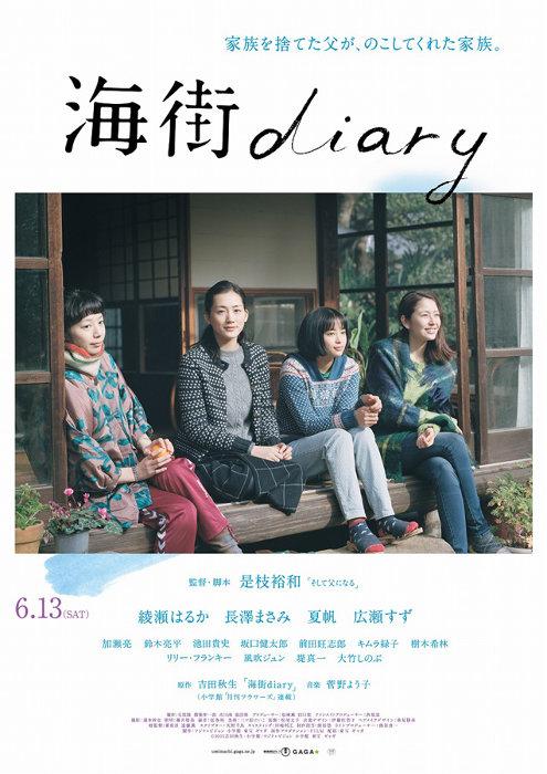 『海街diary』ポスタービジュアル ©2015 吉田秋生・小学館/フジテレビジョン 小学館 東宝 ギャガ