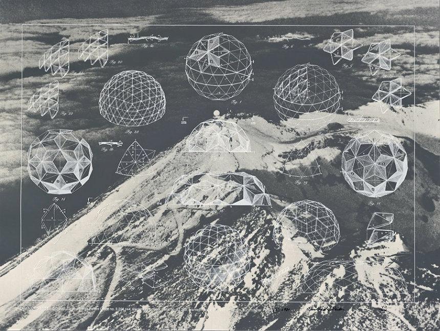 バックミンスター・フラー ポートフォリオ『一つを巡る十二の発明』より 1981年 シルクスクリーン 76.2×101.6cm