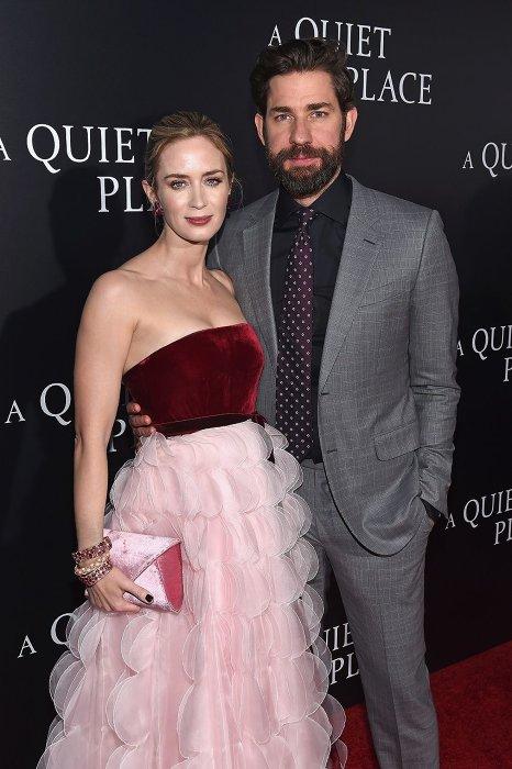 エミリー・ブラント、ジョン・クラシンスキー夫妻 『クワイエット・プレイス』ニューヨークプレミアより ©2018 Paramount Pictures. All rights reserved.