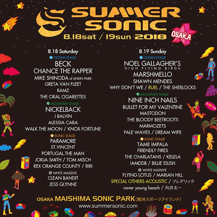 『SUMMER SONIC 2018』大阪公演ビジュアル