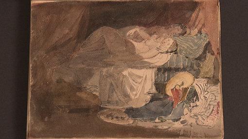 ジョゼフ・マロード・ウィリアム・ターナー『ベッドに横たわるスイス人の裸の少女とその相手』