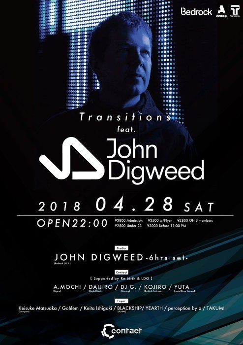 『Transitions feat. John Digweed』チラシビジュアル