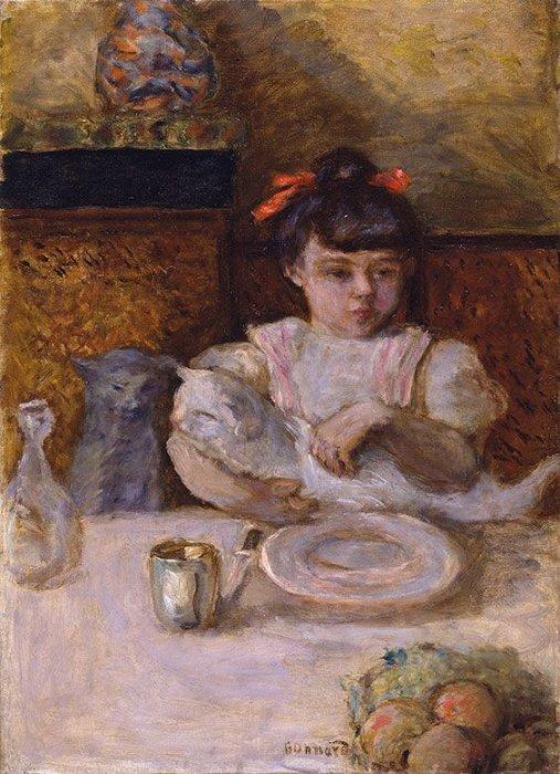 ピエール・ボナール『子供と猫』1906年頃 愛知県美術館蔵