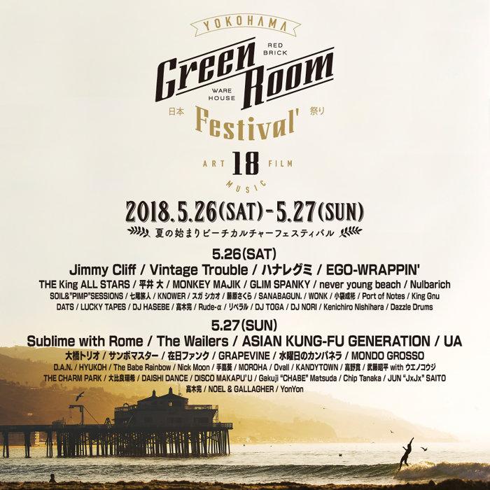 『GREENROOM FESTIVAL'18』ビジュアル
