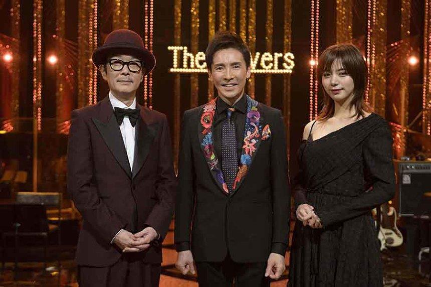 『The Covers 筒美京平ナイト!』左からフランキー、郷ひろみ、池田エライザ