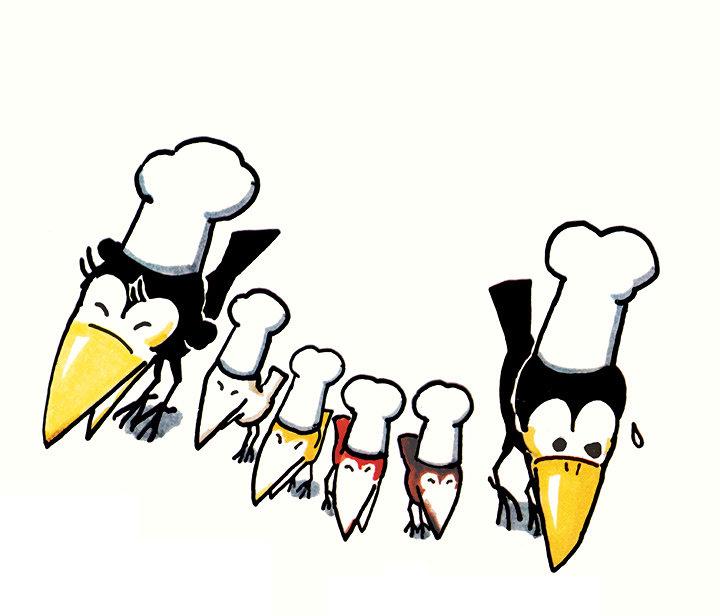 『からすのパンやさん』偕成社刊 ©1973,Satoshi KAKO