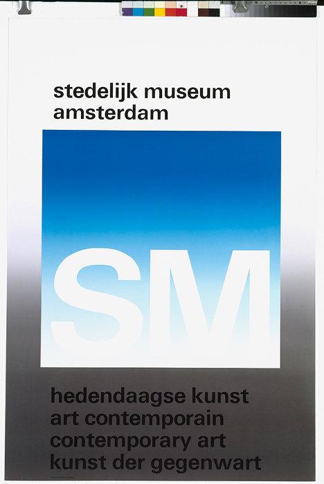 アムステルダム市立美術館 Stedelijk Museum Amsterdam 1971 ポスター