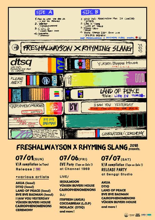 『FRESHALWAYSON×RHYMING SLANG』ポスタービジュアル
