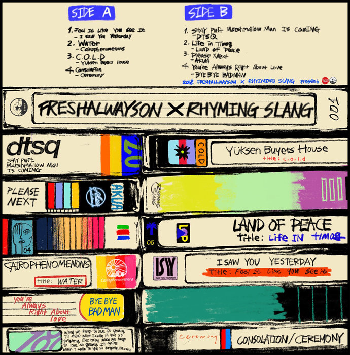 『FRESHALWAYSON×RHYMING SLANG』ジャケット