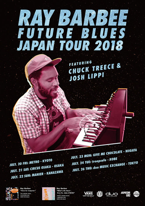 "『Ray Barbee""Future Blues""Japan Tour 2018 featuring Chuck Treece & Josh Lippi』ビジュアル"