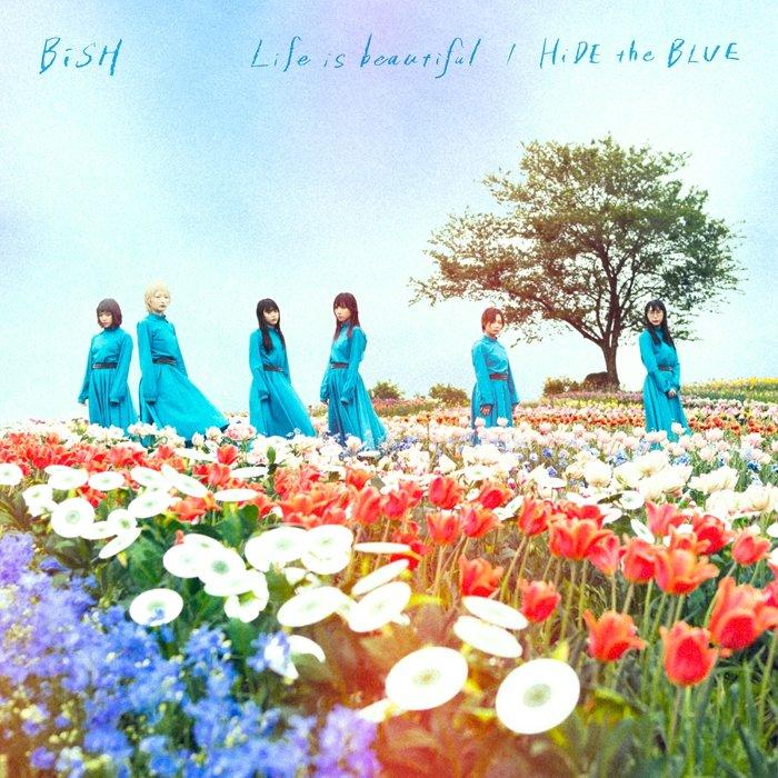BiSH『Life is beautiful / HiDE the BLUE』CD盤ジャケット