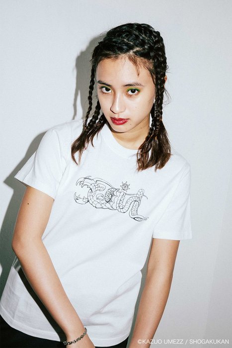 X-girl×楳図かずおコラボTシャツビジュアル