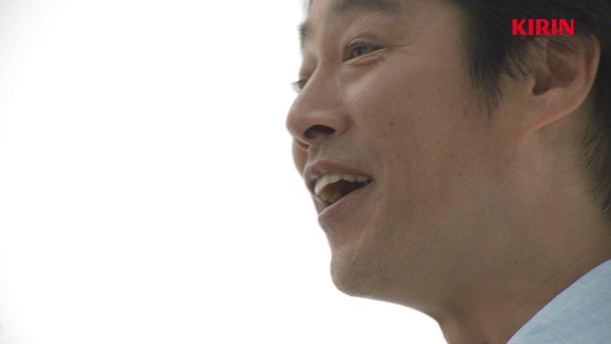 「キリン一番搾り 超芳醇」新CM「堤真一 新体験」篇より