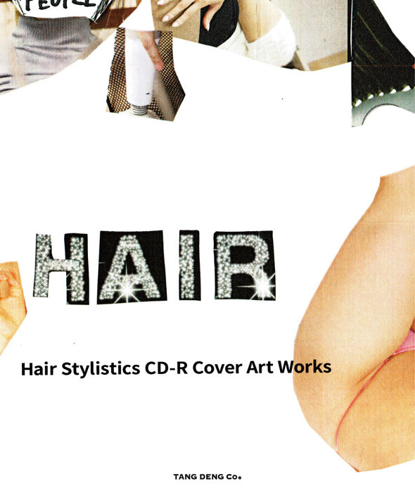 "『Hair Stylistics CD-R Cover Artworks""BOOK With CD""BEST!""』表紙"