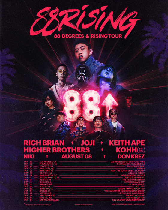 『88 DEGREES & RISING TOUR』キービジュアル