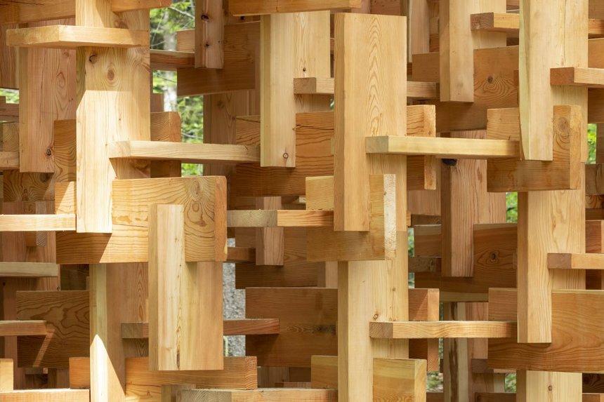 木霊パビリオン木組 Wooden joint system of 'KODAMA' pavilion