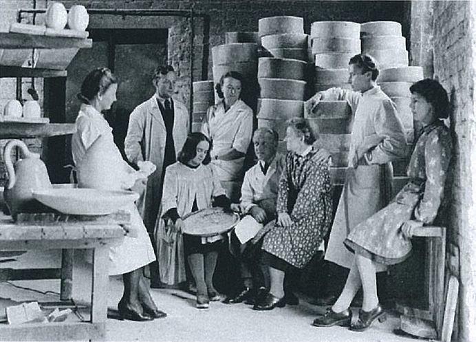 アラビア製陶所美術部門(1945年)、photo: Arabia