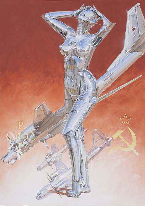 空山基作品 ©Hajime Sorayama, Courtesy of the artist and NANZUKA