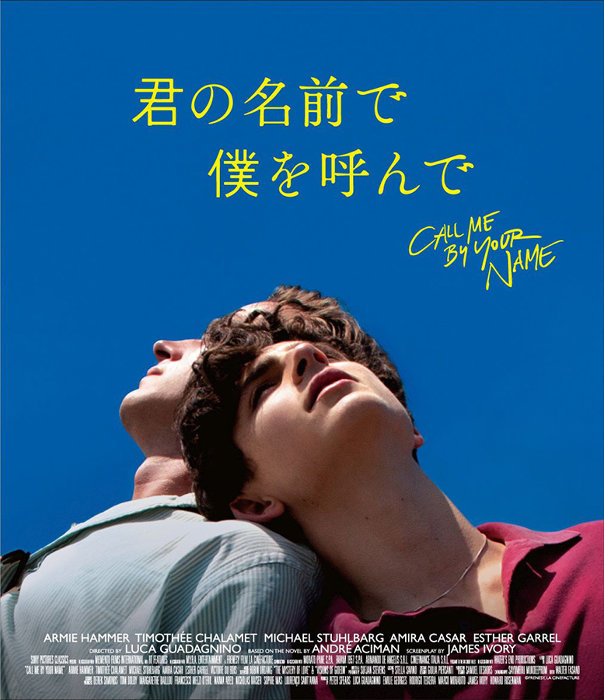 『君の名前で僕を呼んで』Blu-rayジャケット ©Frenesy, La Cinefacture