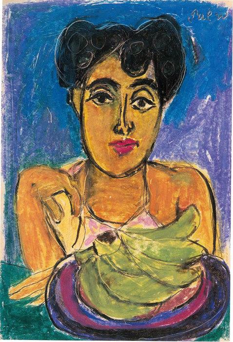 猪熊弦一郎『顔』1950年 39.3×27.8cm サクラアートミュージアム蔵 ©The MIMOCA Foundation
