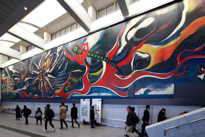 『明日の神話』1969年制作/2008年設置 東京・渋谷