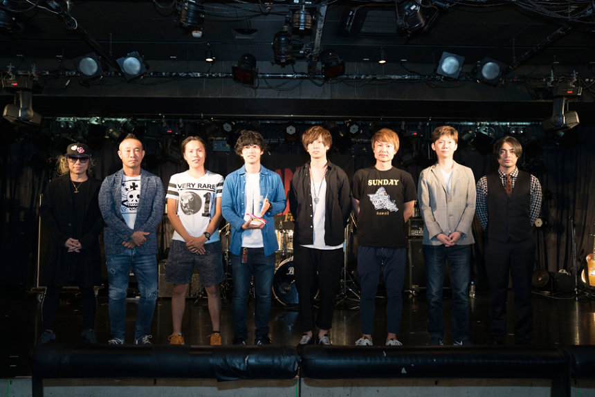左からm.c.A・T、コモリタミノル、ab initio、nao、山田孝之