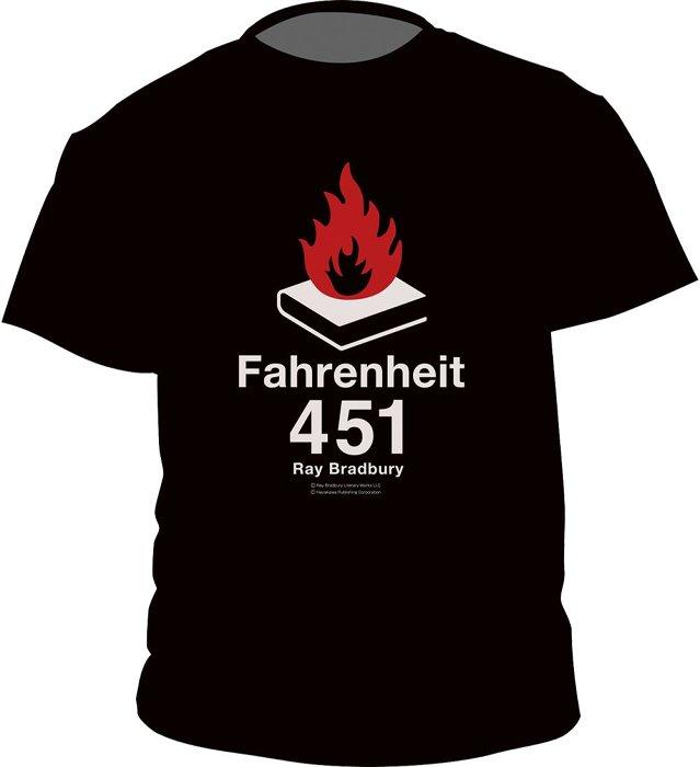 レイ・ブラッドベリ『華氏451度』Tシャツ