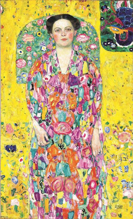 グスタフ・クリムト『オイゲニア・プリマフェージの肖像』 1913/1914年 油彩、カンヴァス 140 x 85 cm 豊田市美術館