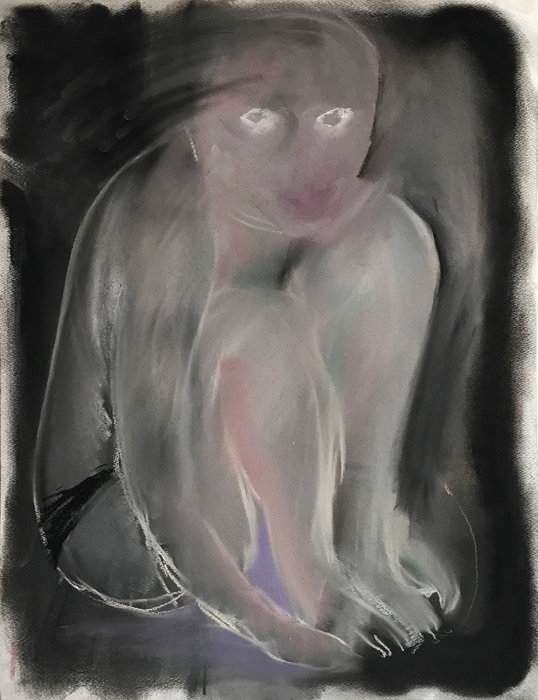 『Untitled』 ©Mariko Matsushita 2018 Pastel on Paper 53x41cm / Courtesy of KEN NAKAHASHI