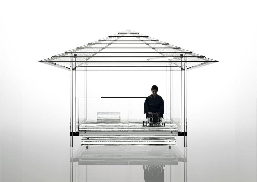 吉岡徳仁『ガラスの茶室―光庵』CG