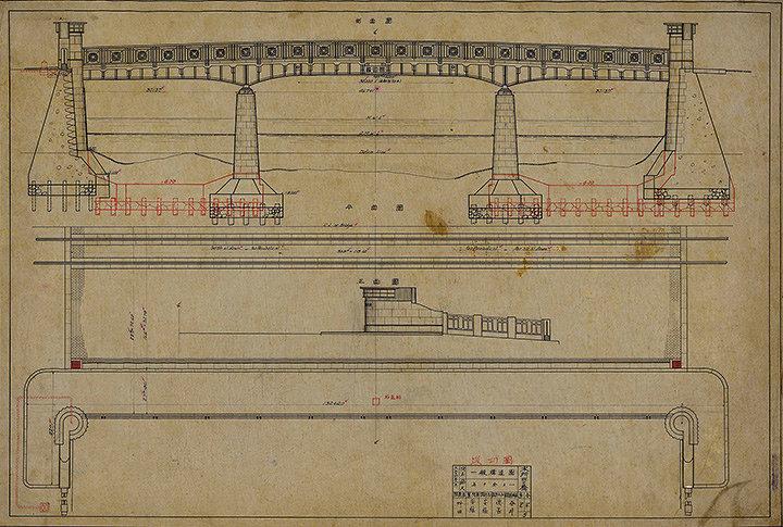 『本所四之橋 一般構造図(施巧図)』東京都建設局所蔵(通期)
