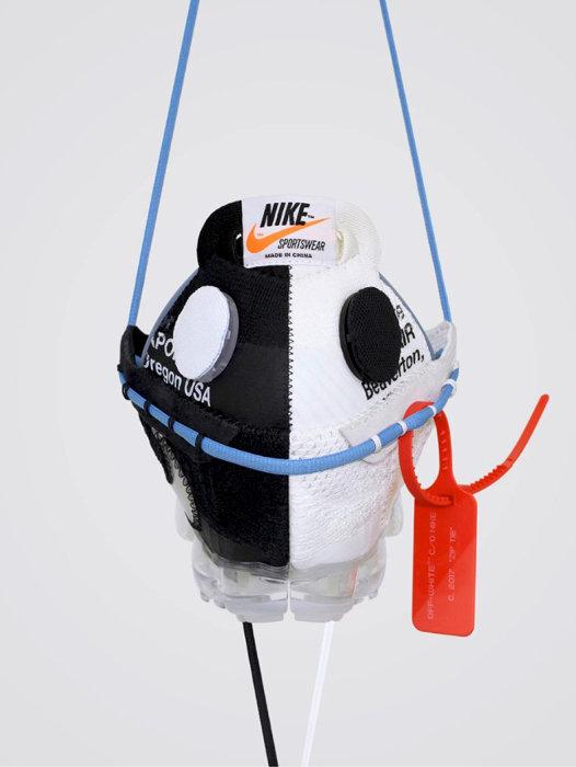 ツィジュン・ウォン『YIN-YANG V1』Off-White Vapormax Mask, 2018 Material from Nike X Off-White Vapormax Handcraft