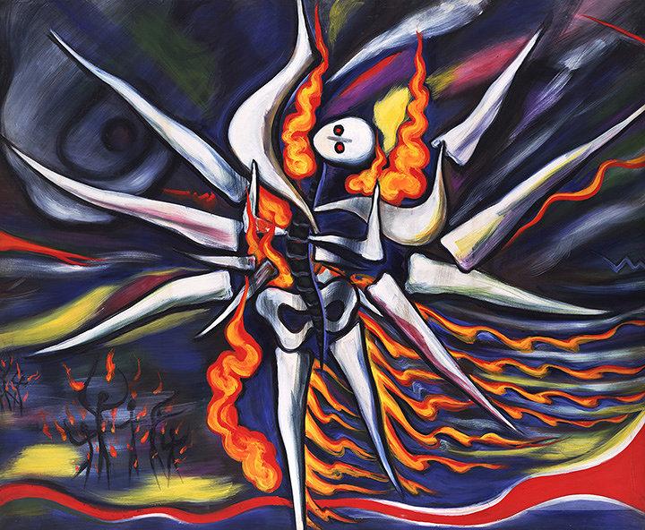 岡本太郎『明日の神話』1968年 川崎市岡本太郎美術館蔵