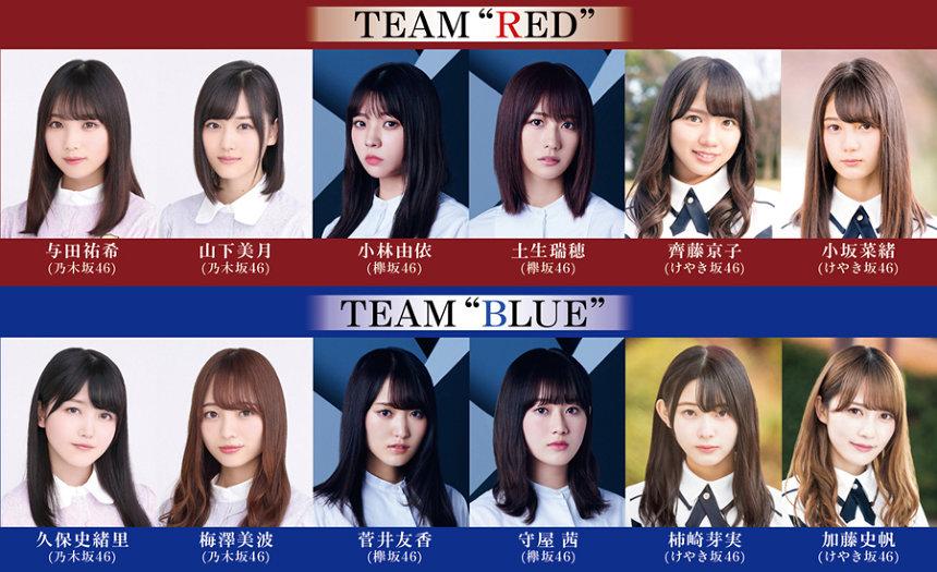 乃木坂×欅×けやき『ザンビ』に菅井友香、加藤史帆ら追加 チーム分けも