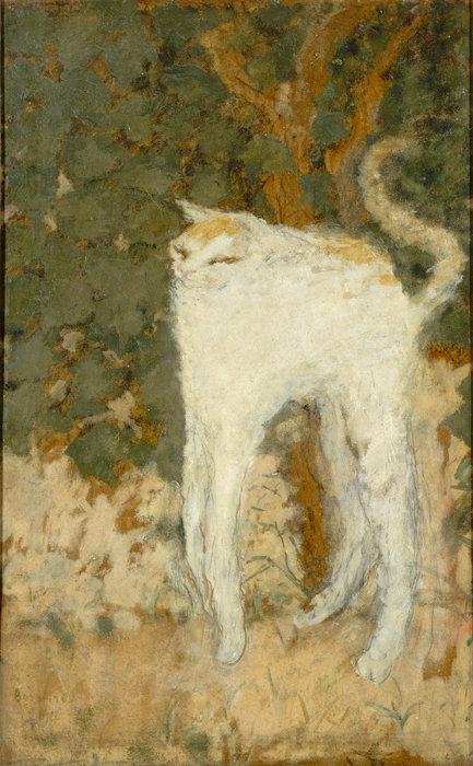 ピエール・ボナール『白い猫』1894年 油彩、厚紙51.9×33.5cm オルセー美術館 ©RMN-Grand Palais (musée d'Orsay) / Hervé Lewandowski / distributed by AMF