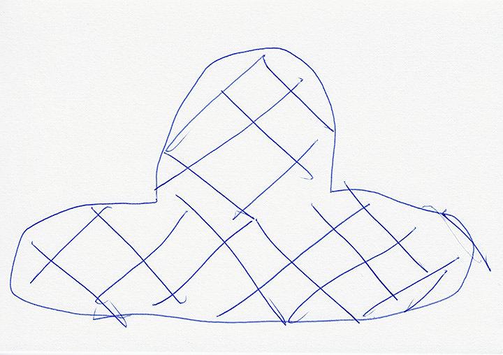 平山昌尚『7790』2018  ボールペン、紙 14.8×21cm Courtesy of the artist and TALION GALLERY