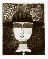 駒井哲郎『R夫人の肖像』1971年 横浜美術館 ©Yoshiko Komai 2018/JAA1800117