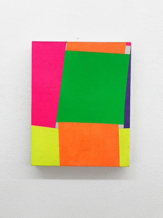 今井俊介『untitled』2018 アクリル絵具、キャンバス、32×25.5cm Courtesy Hagiwara Projects