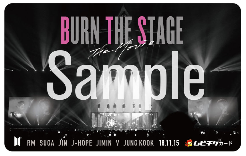 『Burn the Stage : the Movie』ムビチケカードイメージビジュアル ©2018 BIG HIT ENTERTAINMENT Co.Ltd., ALL RIGHTS RESERVED.