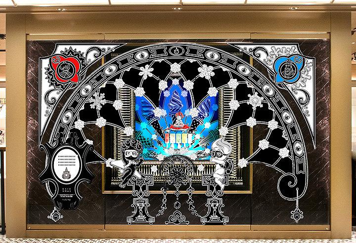 """ニコラ・ビュフ『""""Fantastic Gift"""" ~「冬の王国」と「夏の王国」の物語~』ショーウィンドウ作品イメージビジュアル"""